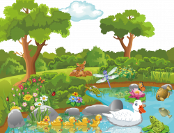 Theatrical scenery Cartoon Nature Clip art - Jungle Fairy Tales 1539 ...