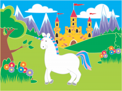 Fairytale Unicorn Landscape Icons PNG - Free PNG and Icons Downloads
