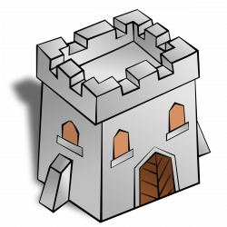 RPG map symbols: Tower Square by @nicubunu, Part of the fantasy RPG ...