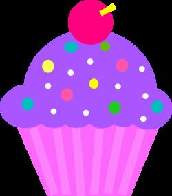 Cupcake Purple And Pink Clip Art at Clker.com - vector clip art ...