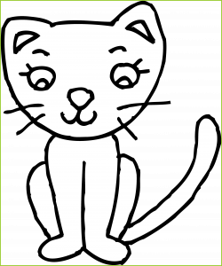 Incredible Sketch Clipart Cute Cat Pencil And In Color Image Of ...