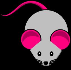 Grey Pink Mouse Clip Art at Clker.com - vector clip art online ...