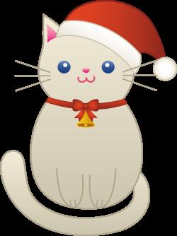 Christmas Kitty Cat - Free Clip Art