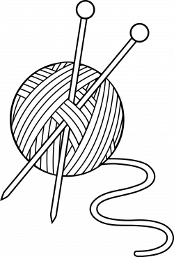 Black and White Knitting Set - Free Clip Art | bildites | Pinterest ...