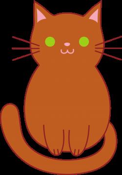 Cute Brown Cat - Free Clip Art