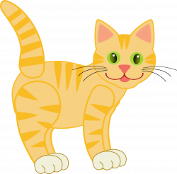 Clipart - Yellow Tiger Cat(four legs)