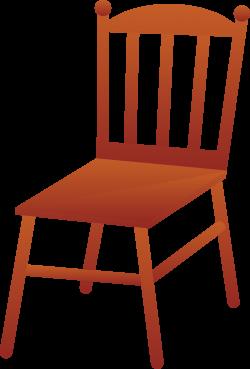 Brown Wooden Chair - Free Clip Art