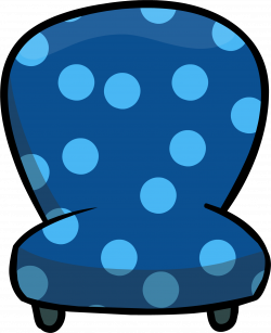 Image - Custom Furniture (Blue Chair with Polka Dots).PNG | Club ...