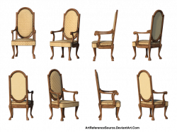 Free Stock PNG Same Chair 8 Views by ArtReferenceSource on DeviantArt