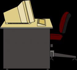 Desk clipart meja - Pencil and in color desk clipart meja