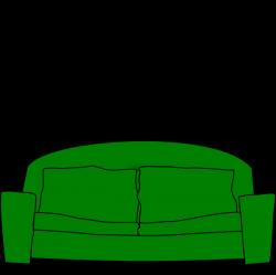 Sofa Clip Art at Clker.com - vector clip art online, royalty free ...