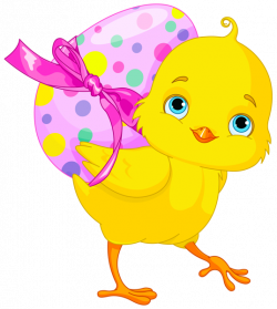 Easter Chicken with Pink Egg Clipart | Gallery Yopriceville - High ...