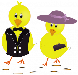 Public Domain Clip Art Image | Easter Sunday Chicks | ID ...