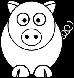 Cartoon Pig Black And White Clip Art at Clker.com - vector clip art ...