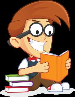 Free Nerd Geek Reading Book People High Resolution Clip Art ...