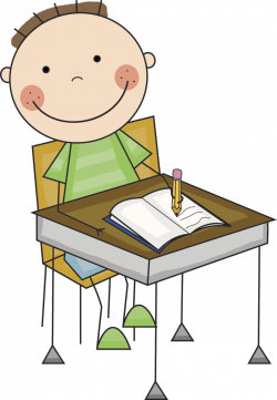 28+ Collection of Kids Working At Desk Clipart | High quality, free ...