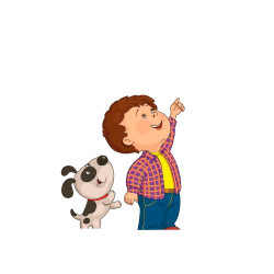 Child Drawing Clip art - Children and dogs looking up at the sky ...