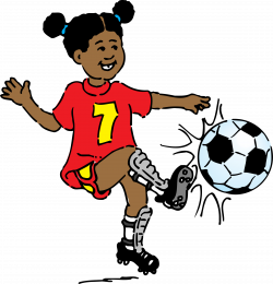 Clipart - girl playing soccer