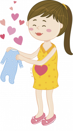 Drawing Pregnancy Clip art - Pregnant women with long hair 1398*2500 ...