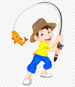 Fishing Cartoon clipart - Fishing, Child, Clothing ...