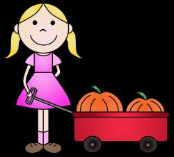 Pumpkin clipart child - Pencil and in color pumpkin clipart child