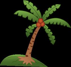 Coconut Tree Design - Free Clip Art