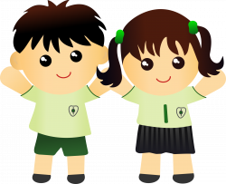 28+ Collection of School Children In Uniform Clipart | High quality ...