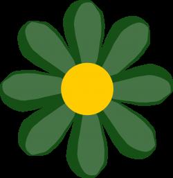 Clipart - green flower