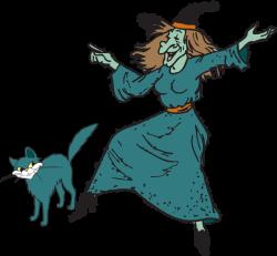Fun Halloween Witch Clipart Kid 2