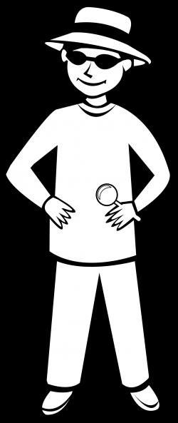 Clipart - Spy Kid Outline 1