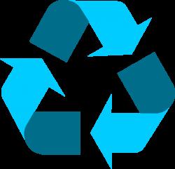 Light blue universal recycling symbol / logo / sign - http://www ...