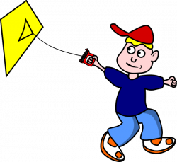 Kid Flying Kite Clip Art at Clker.com - vector clip art online ...