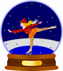 Clipart - Animated Colored Snow Globe