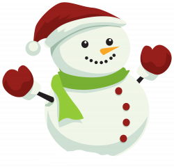 Snowman with Christmas Hat PNG Clipart   XMAS   Pinterest   Snowman ...