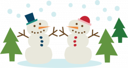 Clipart snowman couple - Graphics - Illustrations - Free Download on ...