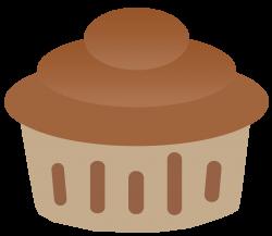 Vanilla and Chocolate Cupcake Clipart | Cupcake Clipart