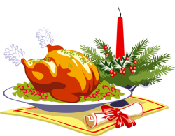28+ Collection of Christmas Dinner Clipart Png | High quality, free ...