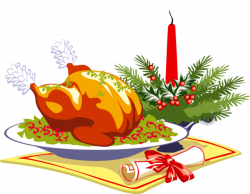 28+ Collection of Christmas Turkey Dinner Clipart | High quality ...
