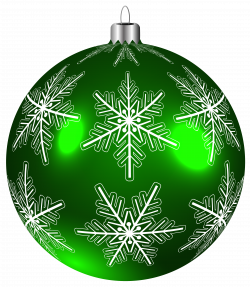 Beautiful Green Christmas Ball PNG Clip-Art Image | Gallery ...