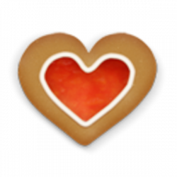 Christmas Cookie Heart Icon | Free Images at Clker.com - vector clip ...