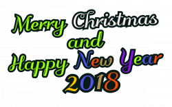 Clipart - Merry Christmas & Happy New Year 2018 - decorative text