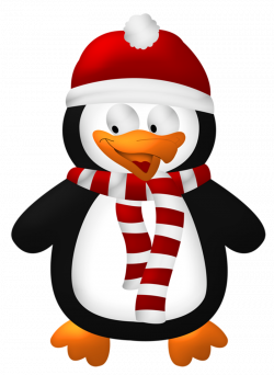 Cute Christmas Penguin Transparent PNG Clipart | Gallery ...
