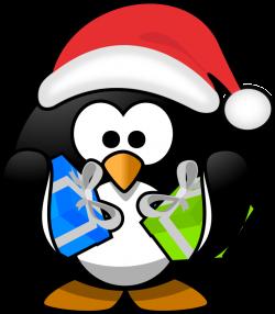 Christmas Penguin Clipart clipart santa penguin surprise birthday ...