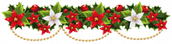 Poinsettia Garland Clipart pin amy on christmas garland pinterest ...
