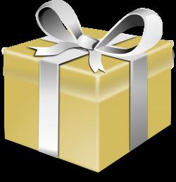 Clipart - Gold present