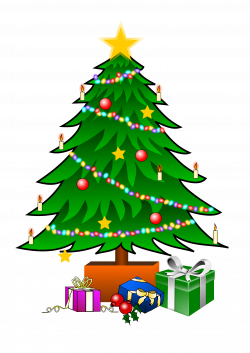 Christmas tree clip art is a fun way to add one of the most symbolic ...