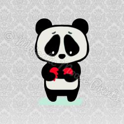 Sad Panda SVG / Clipart / Cut File | SVG Files for Cricut ...