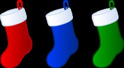 Three Simple Christmas Stockings - Free Clip Art