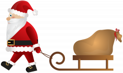 Santa Claus with Sleigh PNG Clip Art | Gallery Yopriceville - High ...