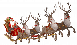 Santa Claus with Sleigh PNG Clipart Image | Gallery Yopriceville ...